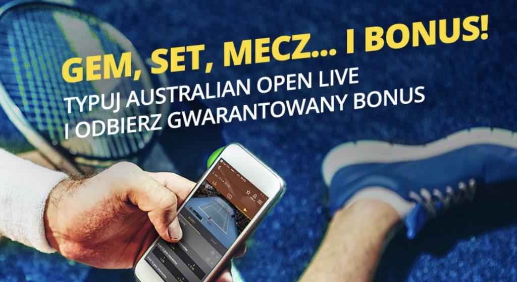 Fortuna i 20 PLN bonus na tenis live!