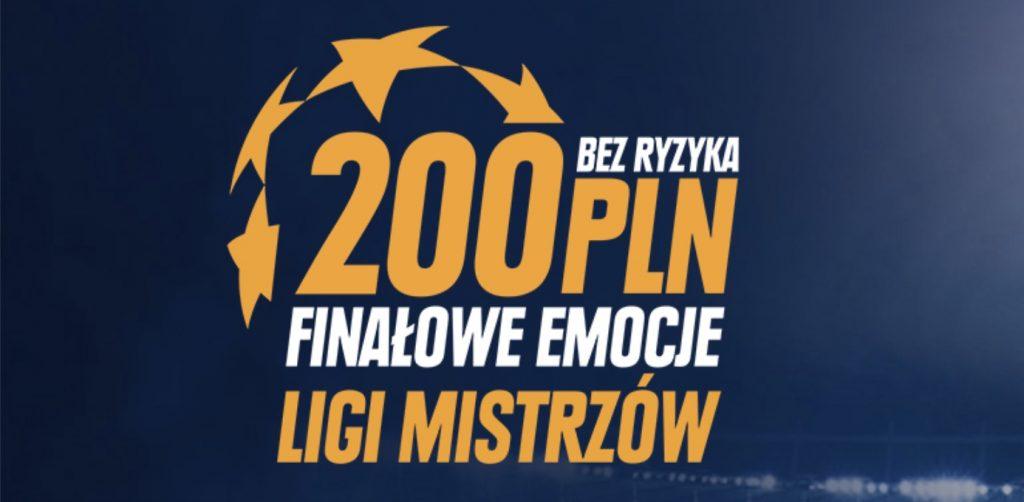 Finał Ligi Mistrzów bez ryzyka w STS! 200 PLN dla nowych graczy!