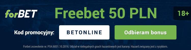 50 PLN od forBET